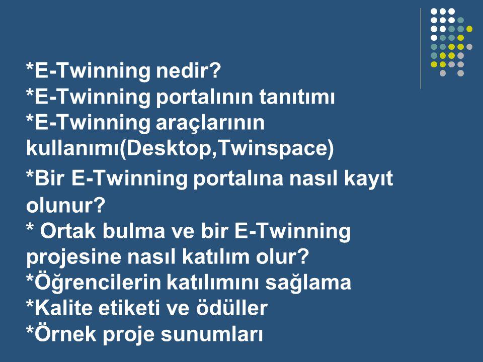 E-Twinning nedir. E-Twinning portalının tanıtımı