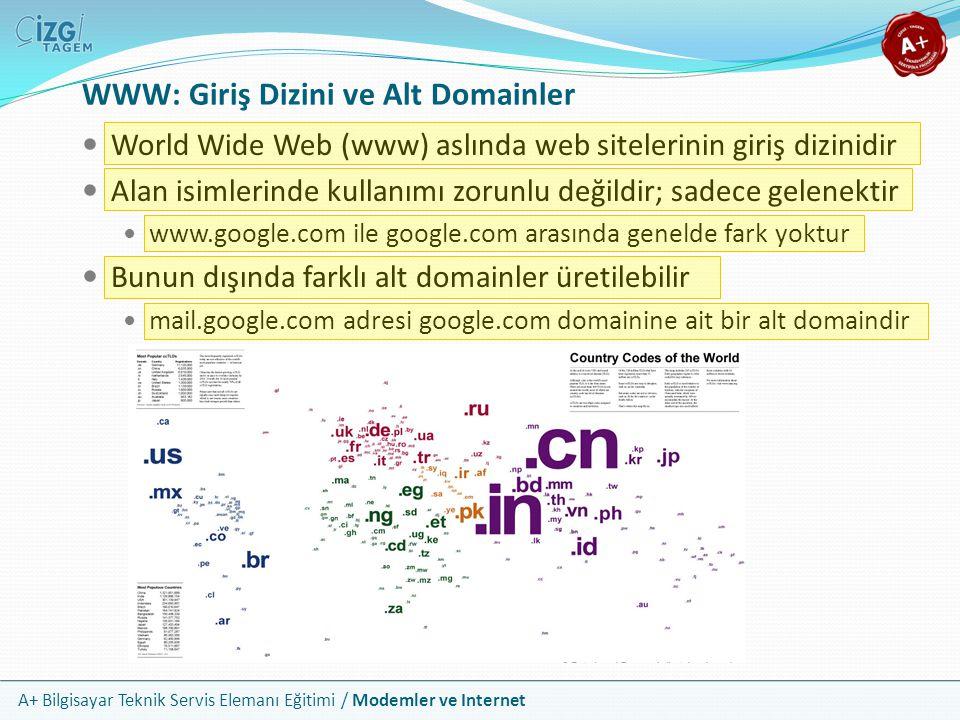 WWW: Giriş Dizini ve Alt Domainler