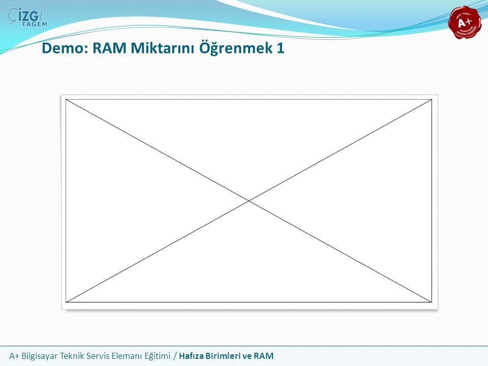Demo: RAM Miktarını Öğrenmek 1