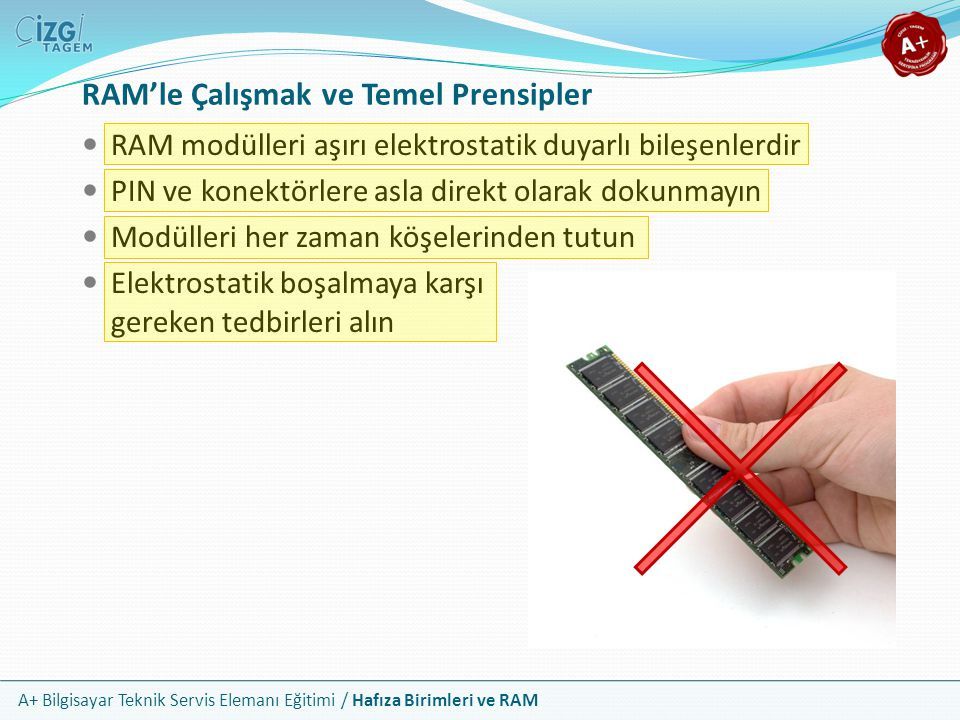 RAM'le Çalışmak ve Temel Prensipler