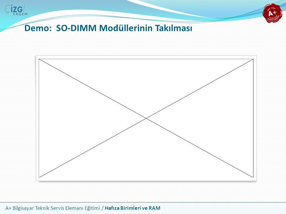 Demo: SO-DIMM Modüllerinin Takılması
