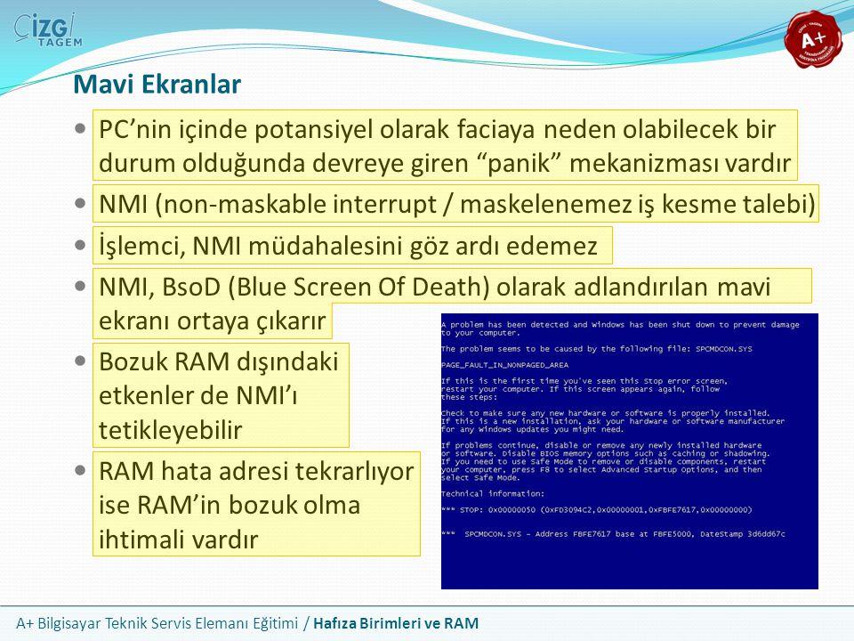 Mavi Ekranlar PC'nin içinde potansiyel olarak faciaya neden olabilecek bir durum olduğunda devreye giren panik mekanizması vardır.
