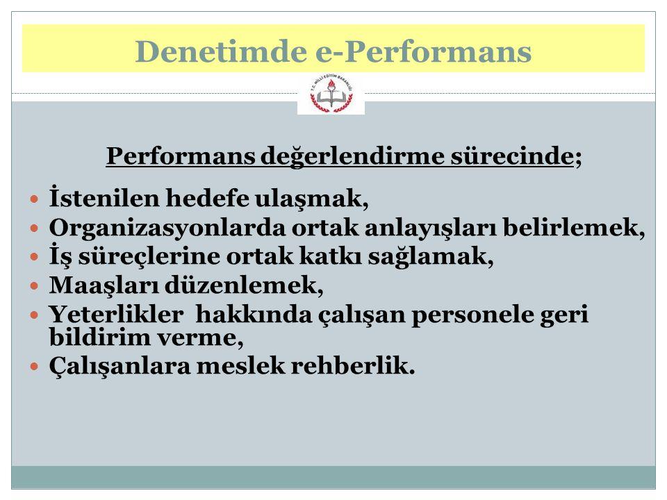 Denetimde e-Performans