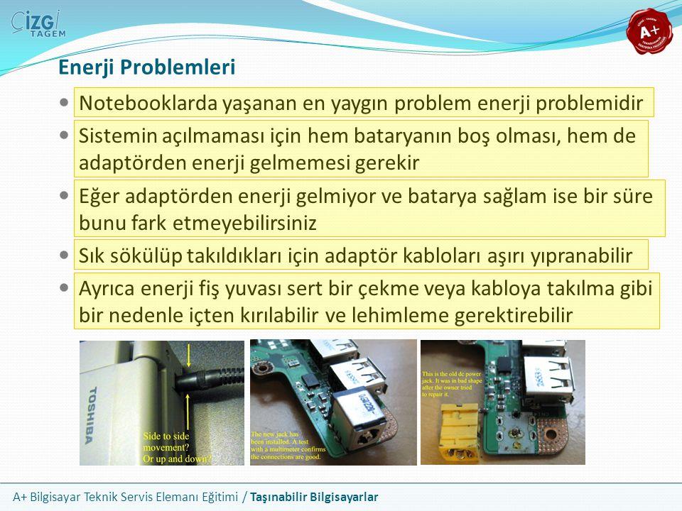 Enerji Problemleri Notebooklarda yaşanan en yaygın problem enerji problemidir.