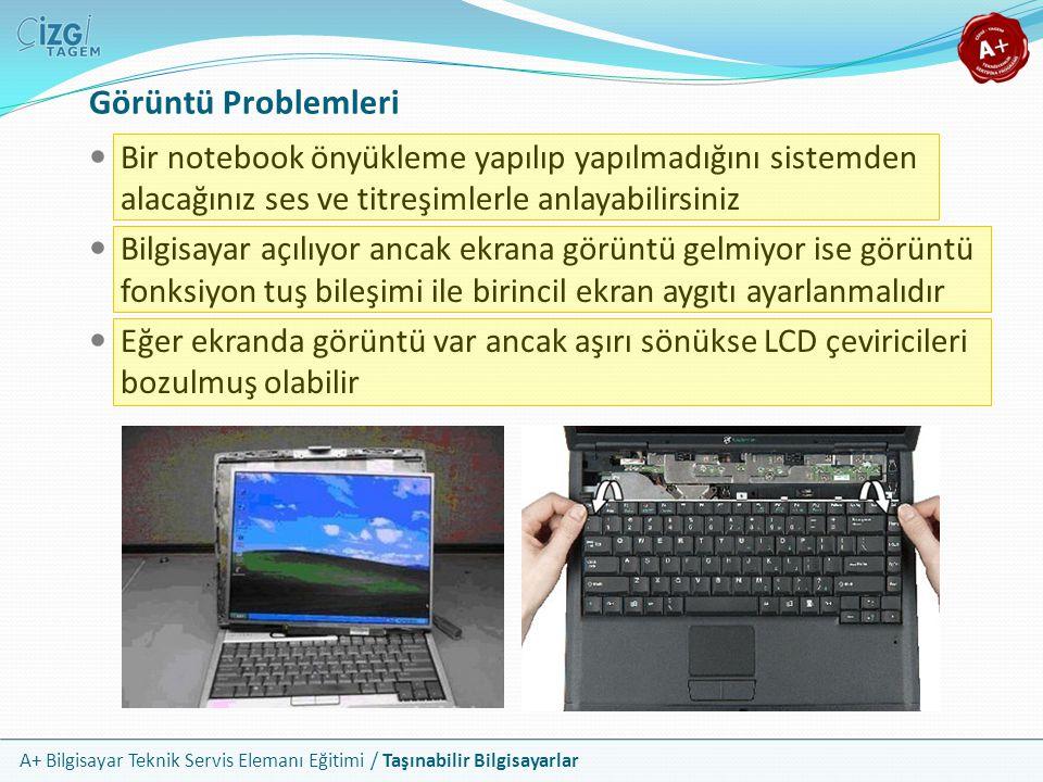 Görüntü Problemleri Bir notebook önyükleme yapılıp yapılmadığını sistemden alacağınız ses ve titreşimlerle anlayabilirsiniz.