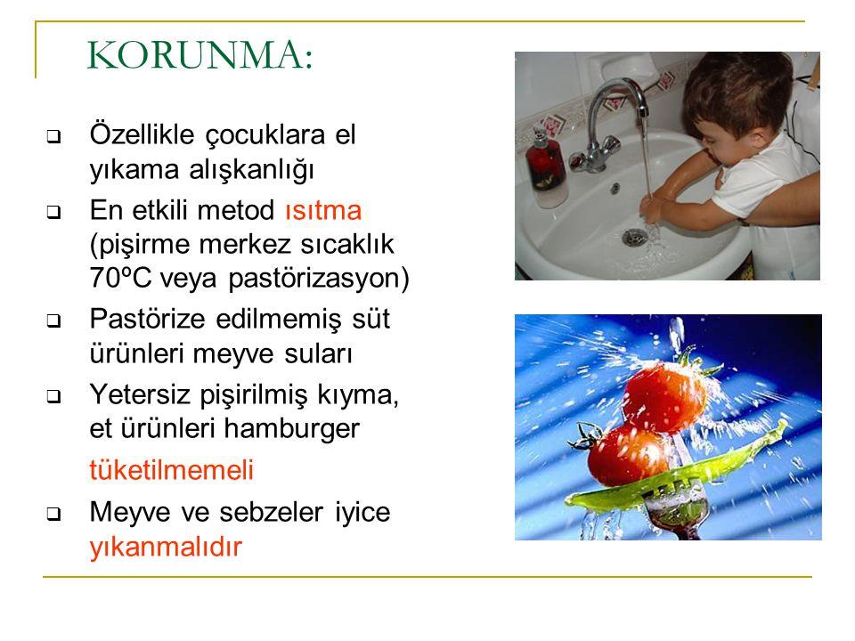 KORUNMA: Özellikle çocuklara el yıkama alışkanlığı