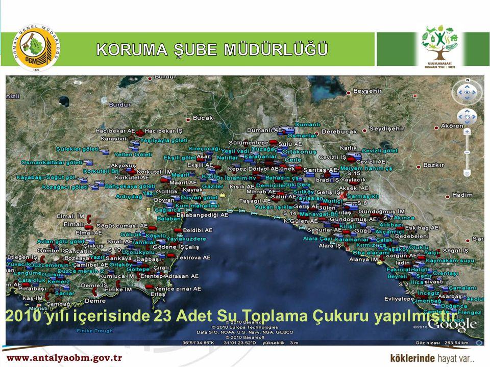 2010 yılı içerisinde 23 Adet Su Toplama Çukuru yapılmıştır
