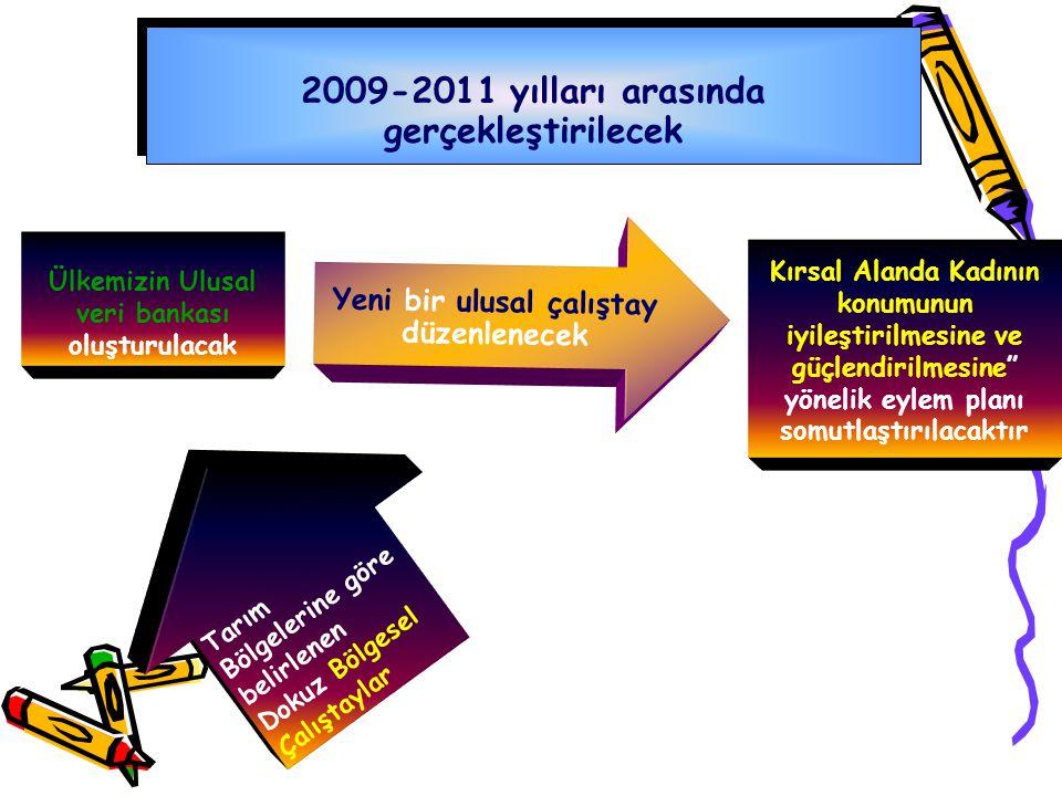 2009-2011 yılları arasında gerçekleştirilecek