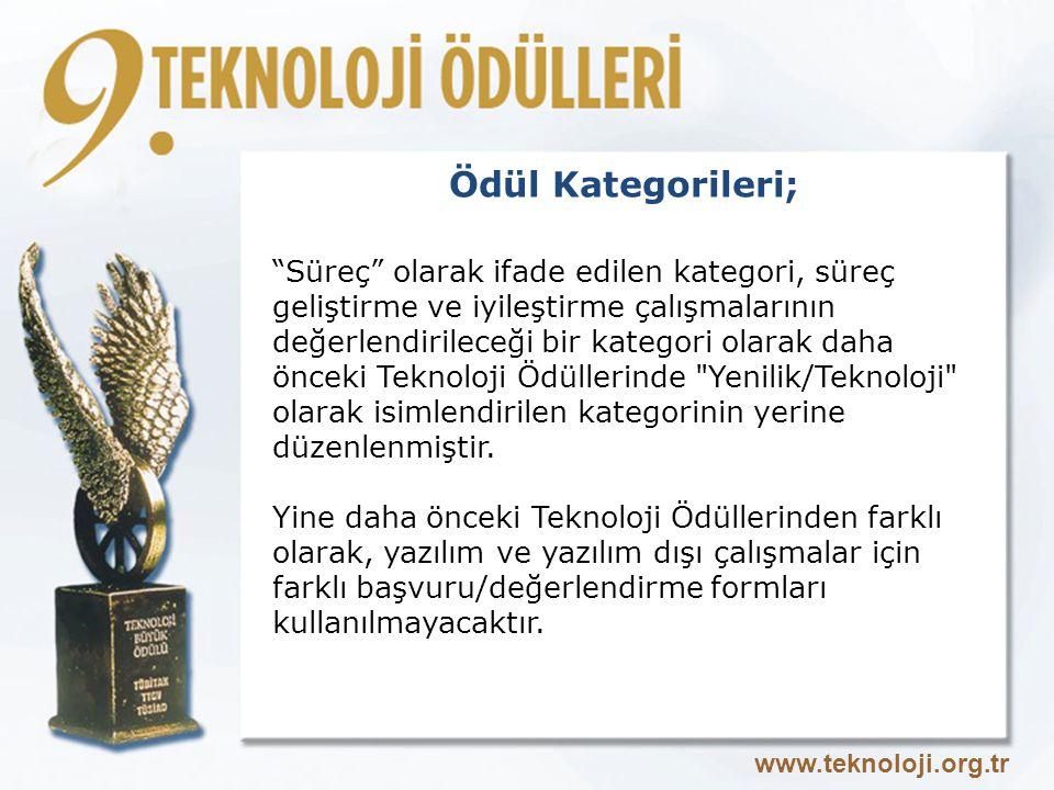 Ödül Kategorileri;