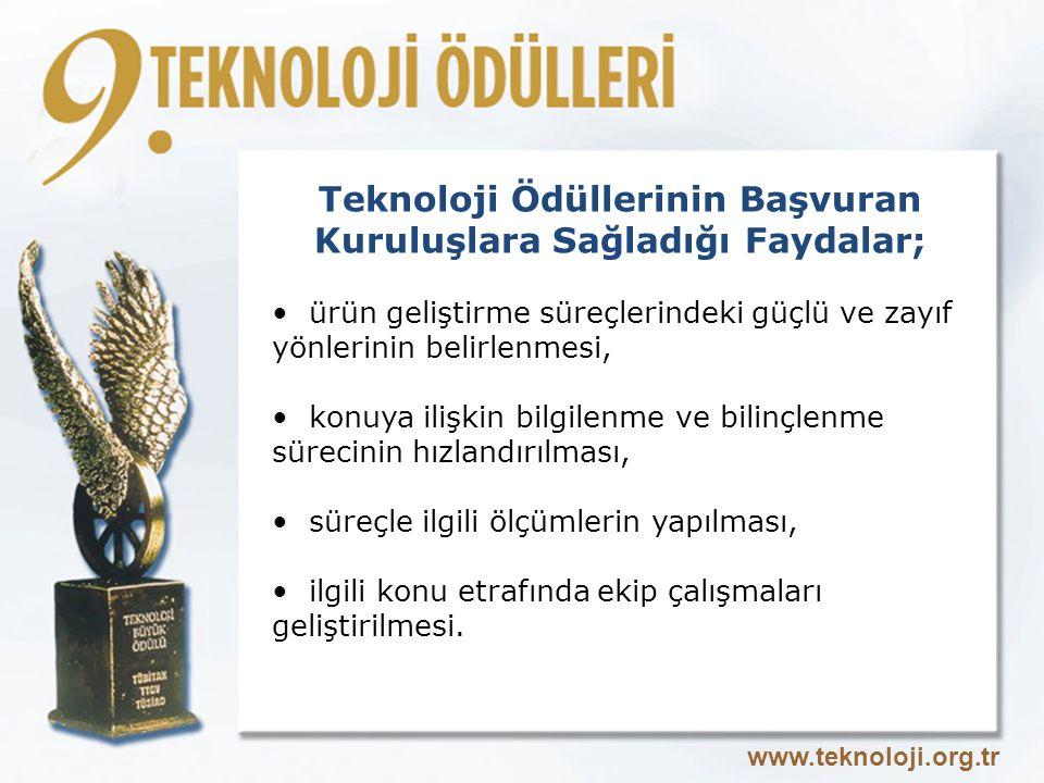 Teknoloji Ödüllerinin Başvuran Kuruluşlara Sağladığı Faydalar;