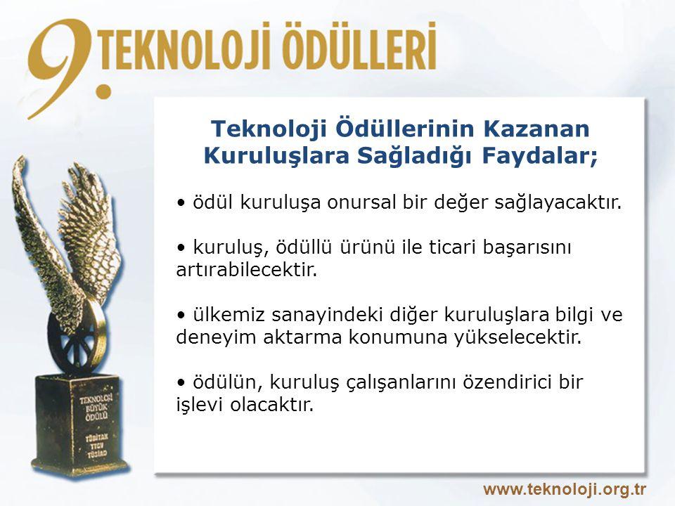Teknoloji Ödüllerinin Kazanan Kuruluşlara Sağladığı Faydalar;