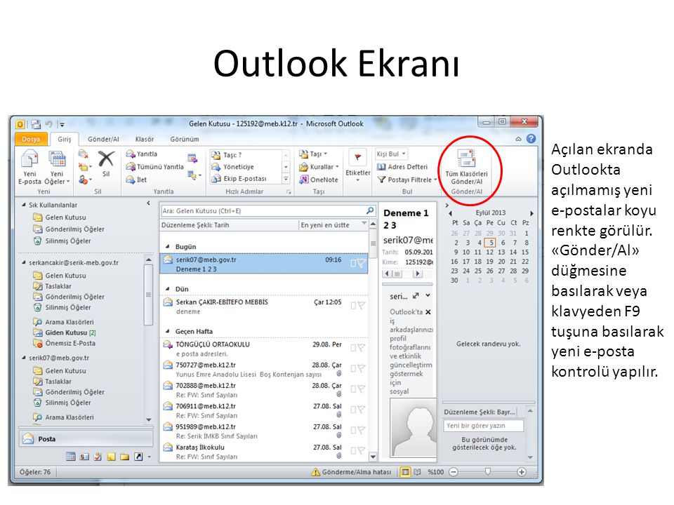 Outlook Ekranı