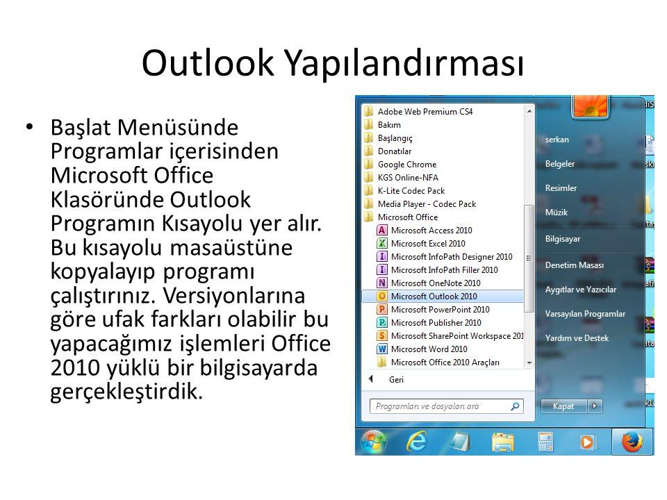 Outlook Yapılandırması
