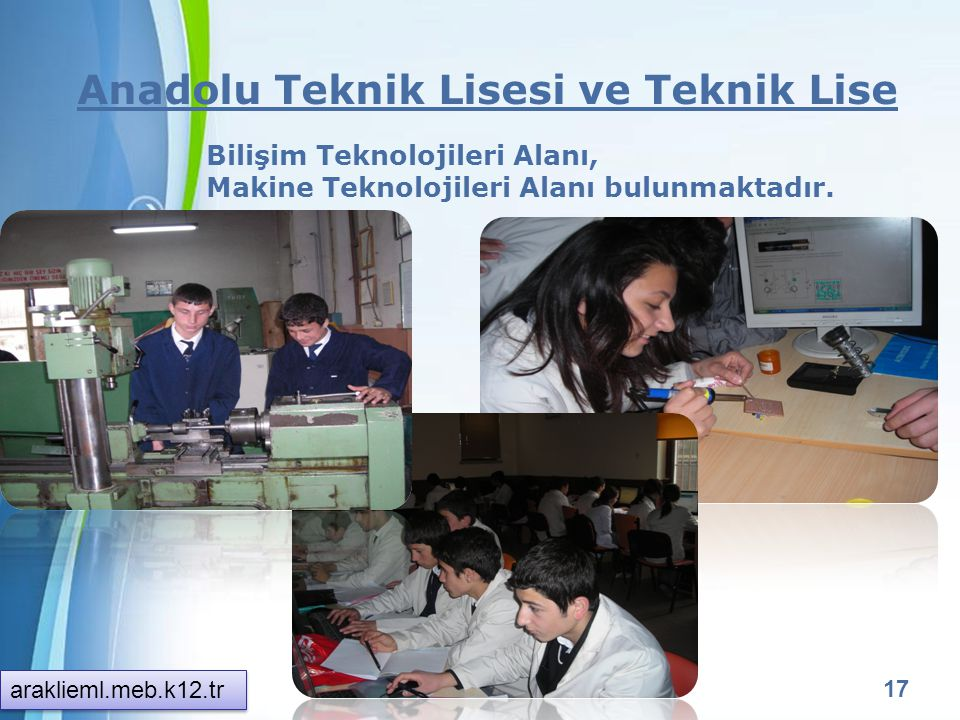 Anadolu Teknik Lisesi ve Teknik Lise