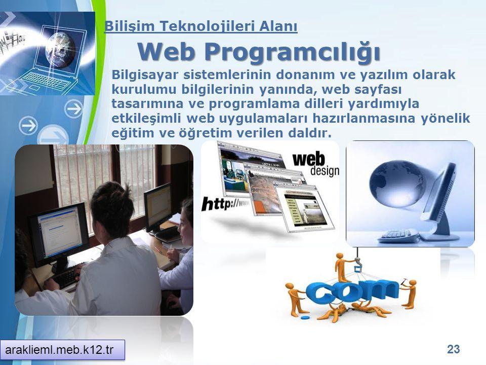 Web Programcılığı Bilişim Teknolojileri Alanı