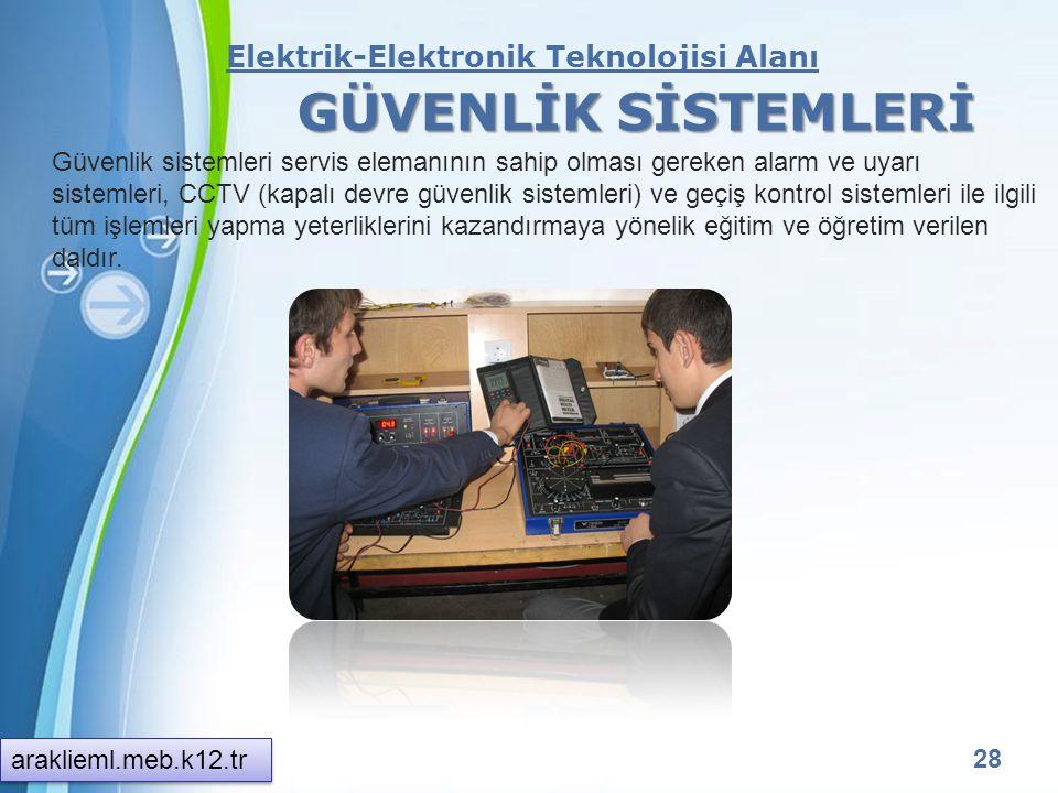 GÜVENLİK SİSTEMLERİ Elektrik-Elektronik Teknolojisi Alanı