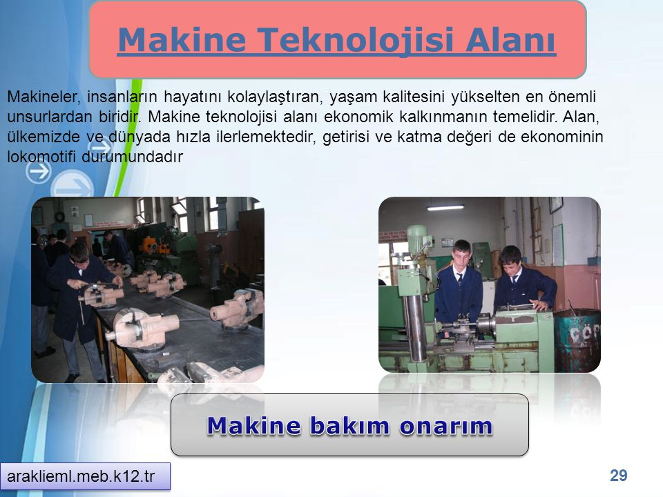 Makine Teknolojisi Alanı