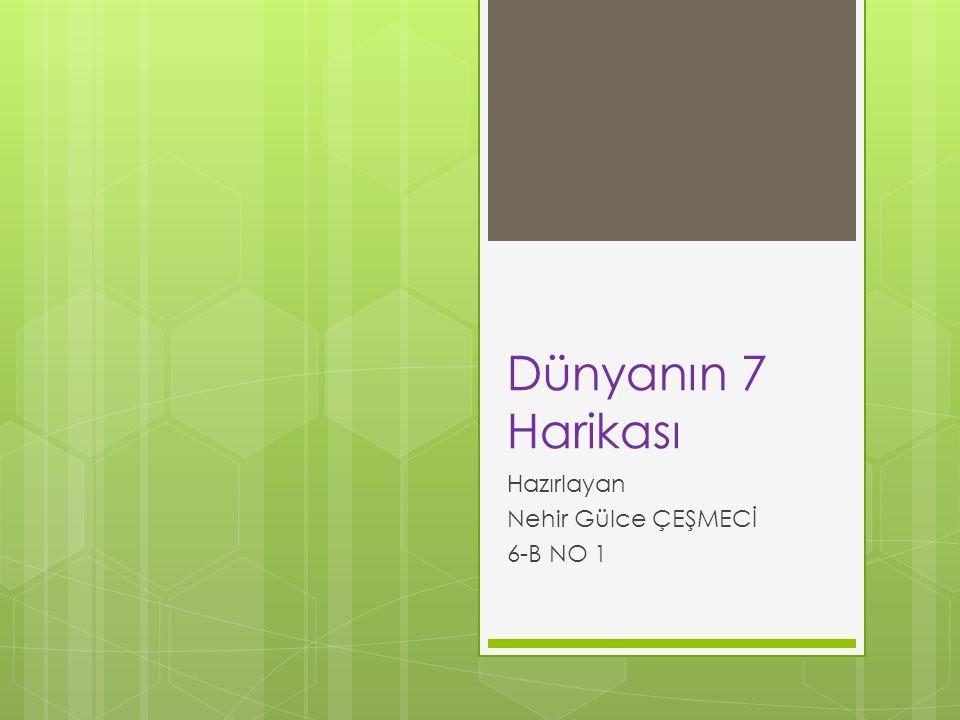Hazırlayan Nehir Gülce ÇEŞMECİ 6-B NO 1