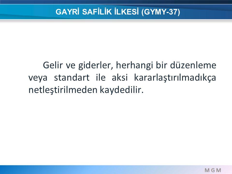 GAYRİ SAFİLİK İLKESİ (GYMY-37)