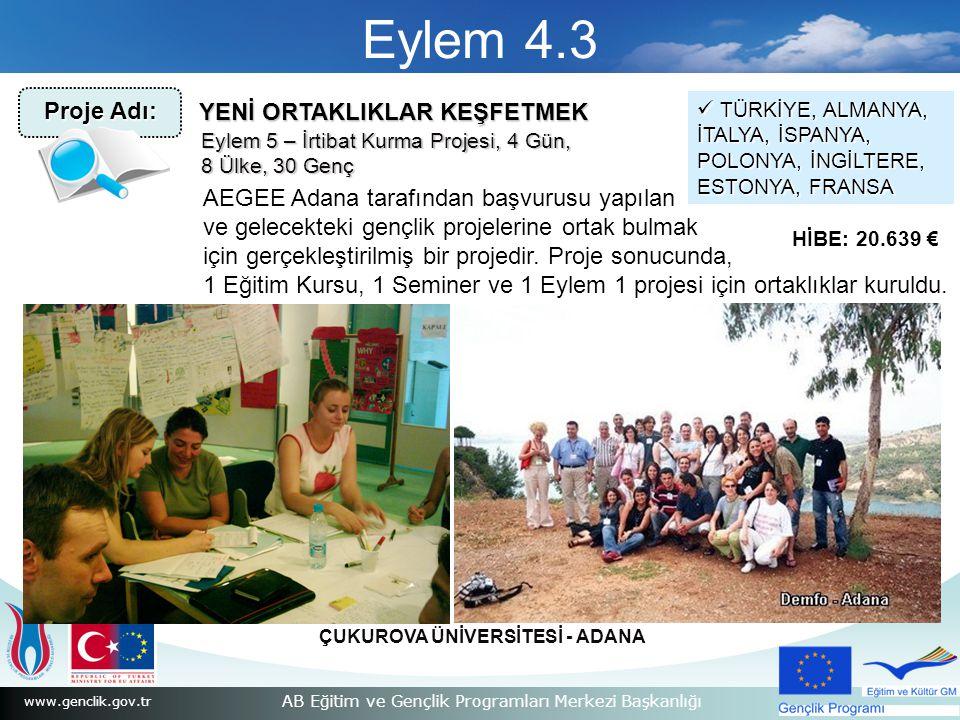 Eylem 4.3 Proje Adı: YENİ ORTAKLIKLAR KEŞFETMEK