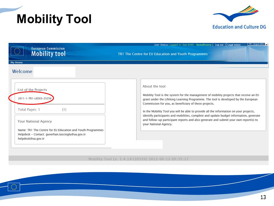 Mobility Tool Main Message
