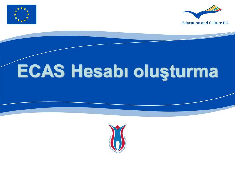 ECAS Hesabı oluşturma