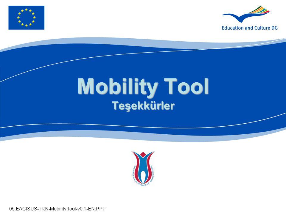 Mobility Tool Teşekkürler
