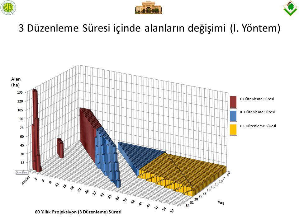 3 Düzenleme Süresi içinde alanların değişimi (I. Yöntem)