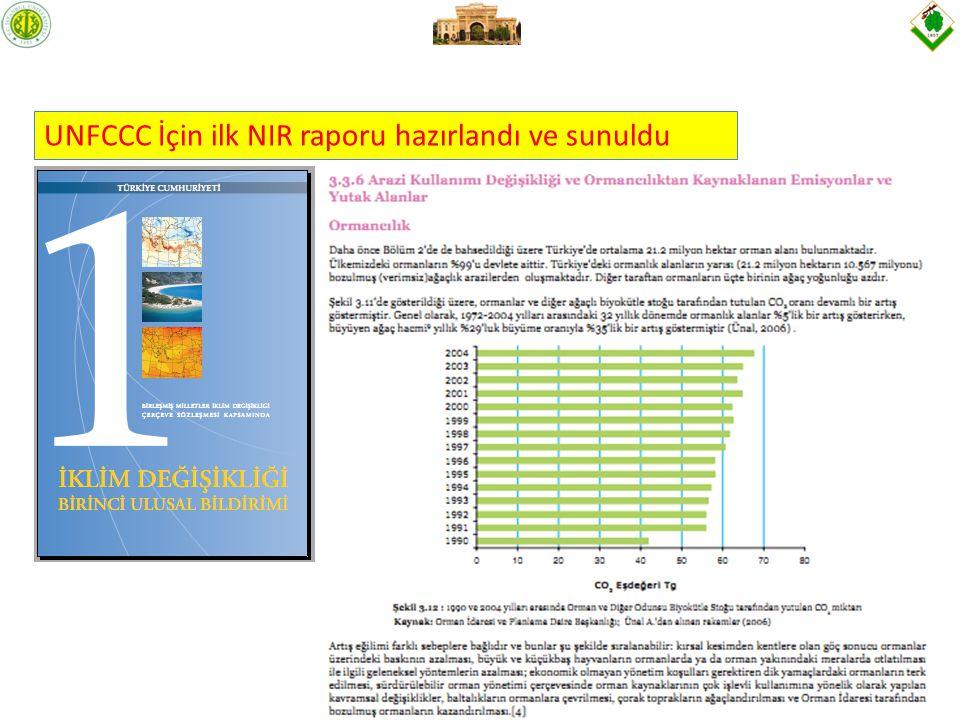 UNFCCC İçin ilk NIR raporu hazırlandı ve sunuldu