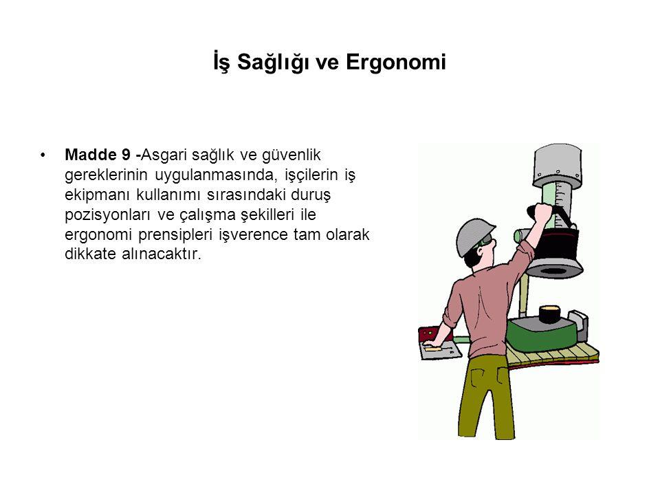 İş Sağlığı ve Ergonomi