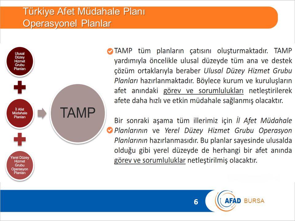 Türkiye Afet Müdahale Planı Operasyonel Planlar