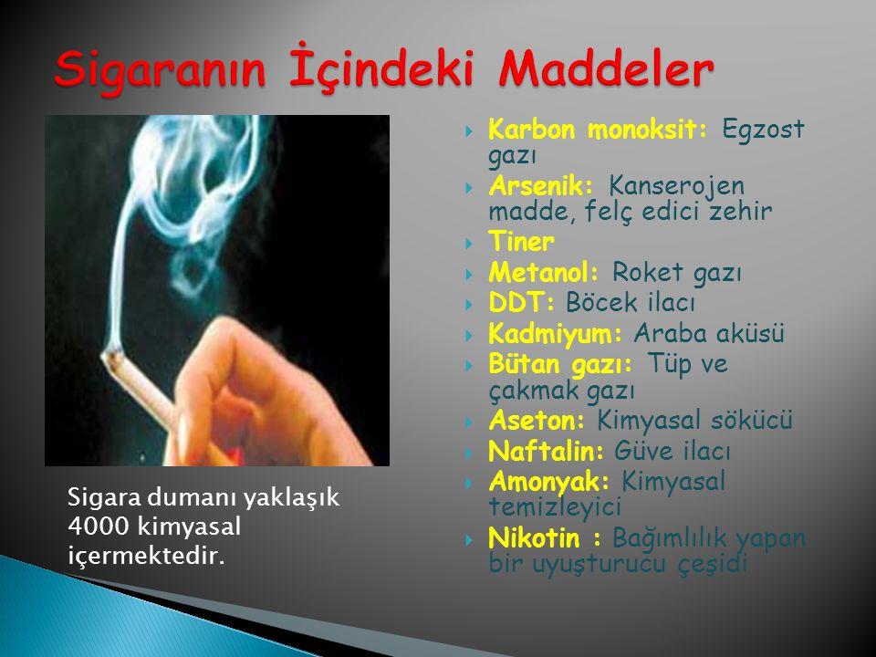 Sigaranın İçindeki Maddeler