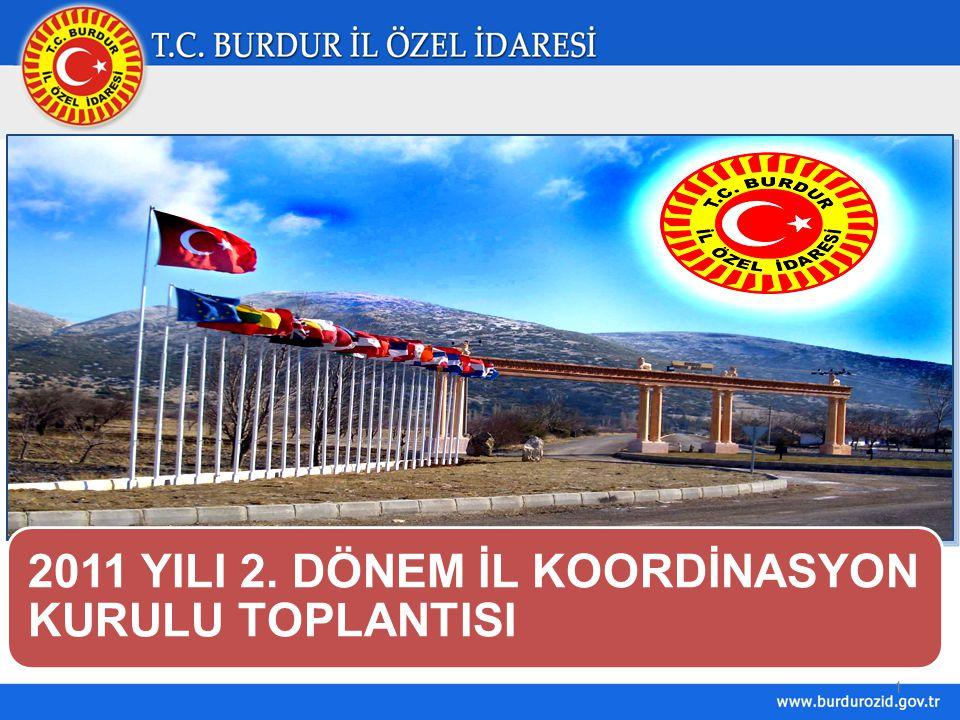 2011 YILI 2. DÖNEM İL KOORDİNASYON KURULU TOPLANTISI