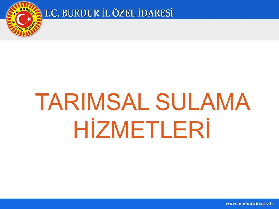 TARIMSAL SULAMA HİZMETLERİ