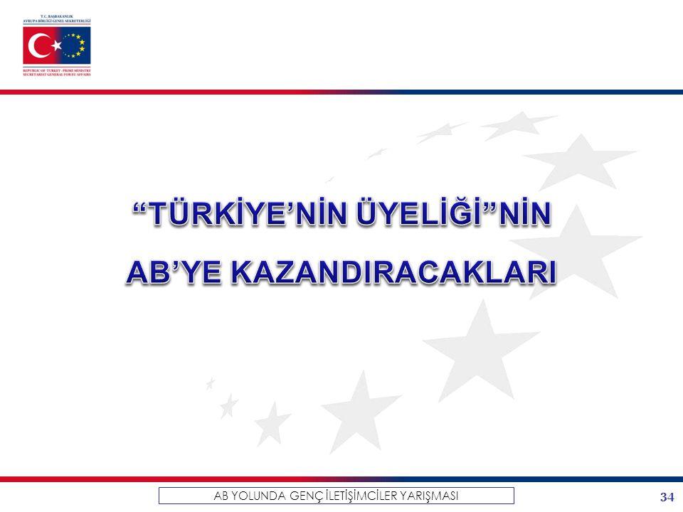 TÜRKİYE'NİN ÜYELİĞİ NİN AB'YE KAZANDIRACAKLARI