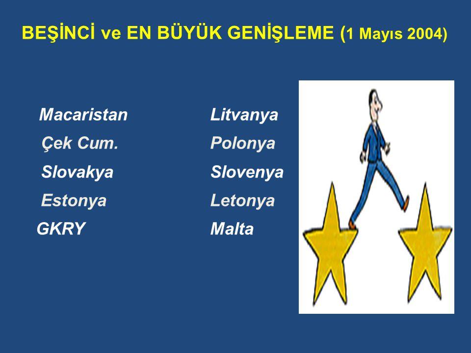 BEŞİNCİ ve EN BÜYÜK GENİŞLEME (1 Mayıs 2004)