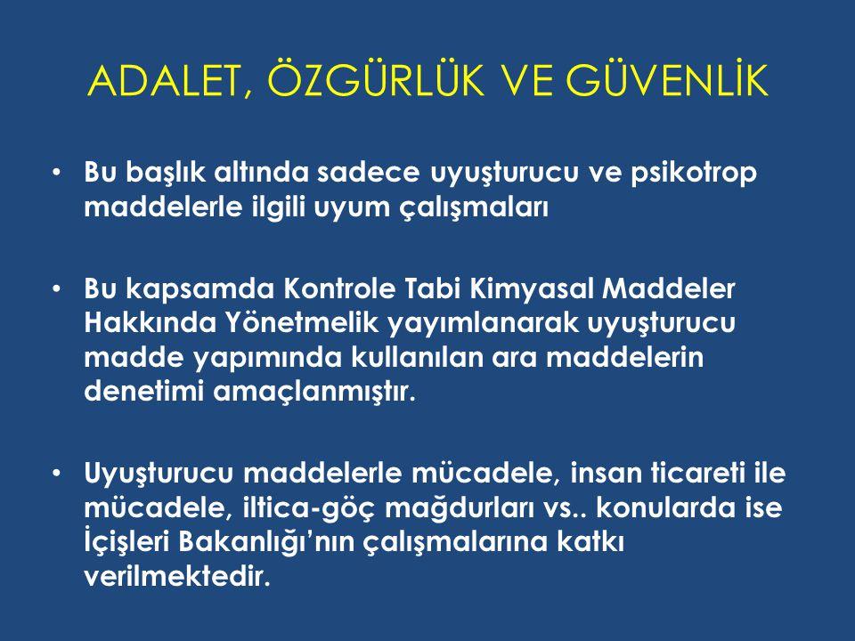 ADALET, ÖZGÜRLÜK VE GÜVENLİK