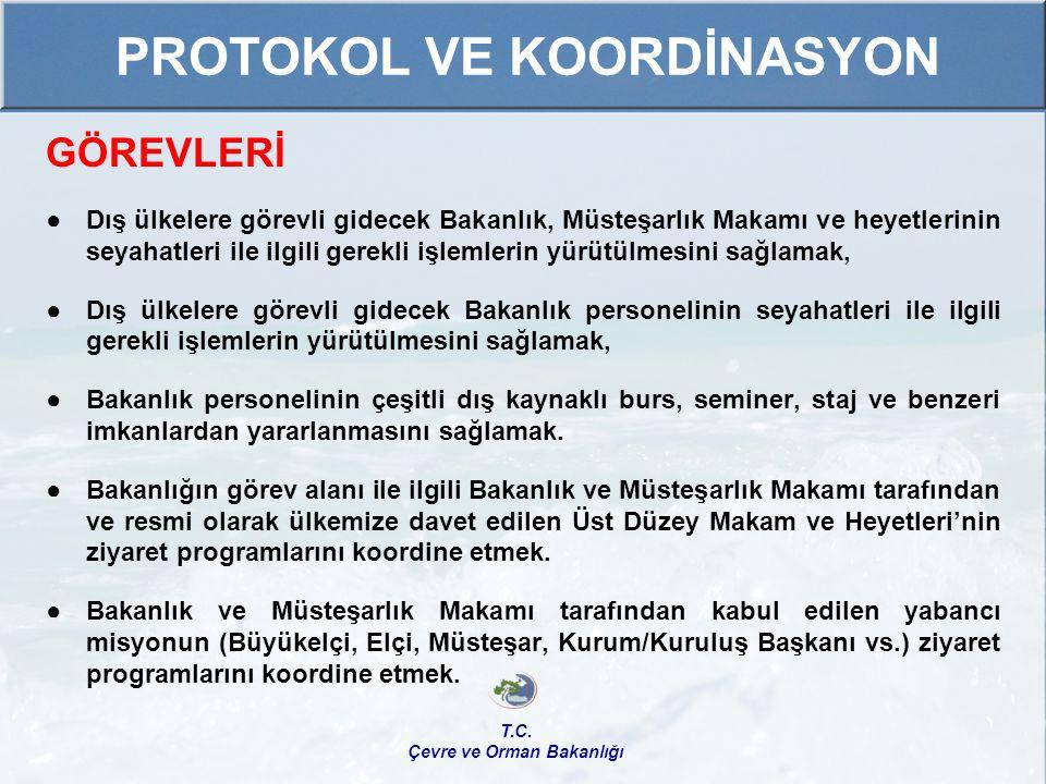 PROTOKOL VE KOORDİNASYON Çevre ve Orman Bakanlığı