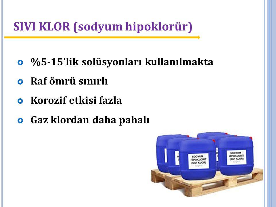 SIVI KLOR (sodyum hipoklorür)