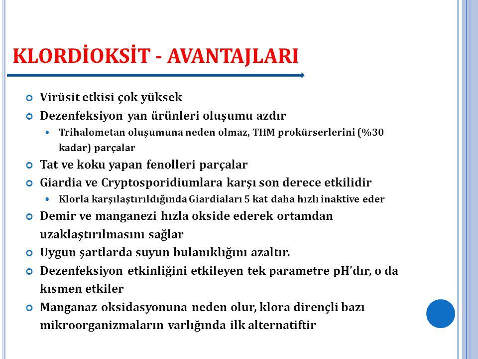 KLORDİOKSİT - AVANTAJLARI