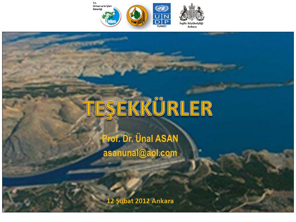 12 Şubat 2012 Ankara TEŞEKKÜRLER Prof. Dr. Ünal ASAN asanunal@aol.com