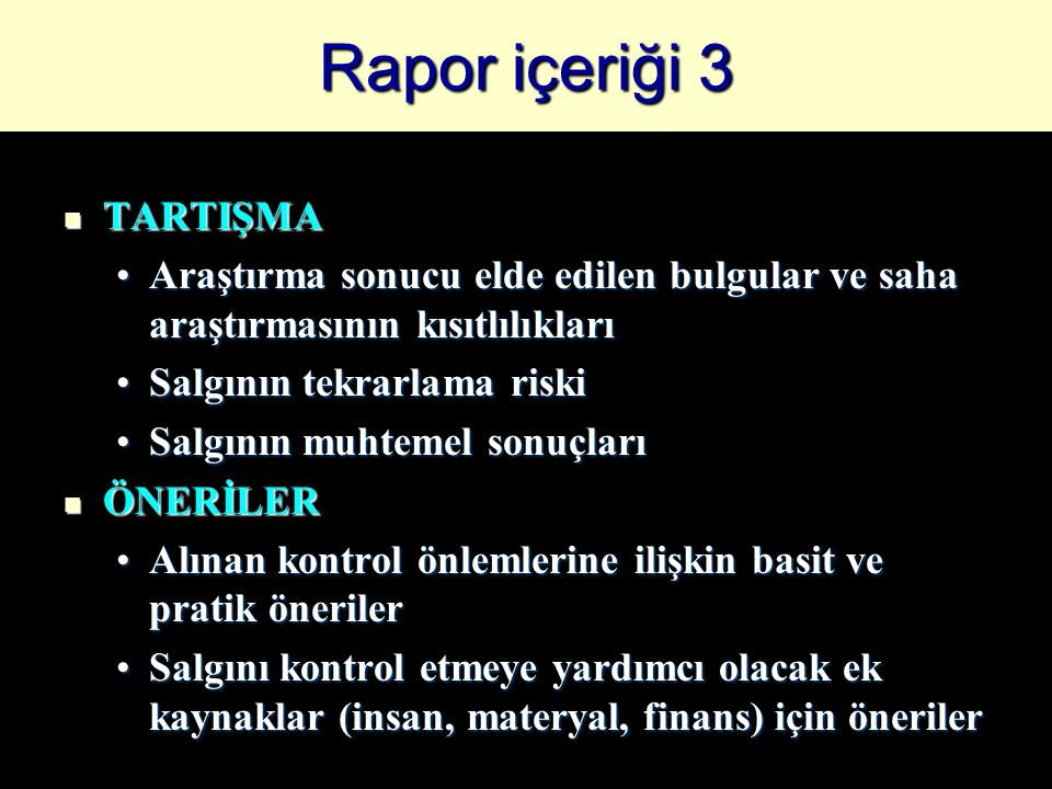 Rapor içeriği 3 TARTIŞMA