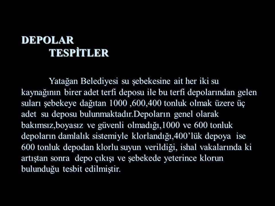 DEPOLAR TESPİTLER.