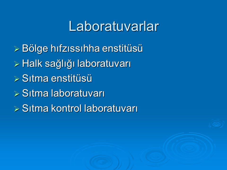 Laboratuvarlar Bölge hıfzıssıhha enstitüsü Halk sağlığı laboratuvarı