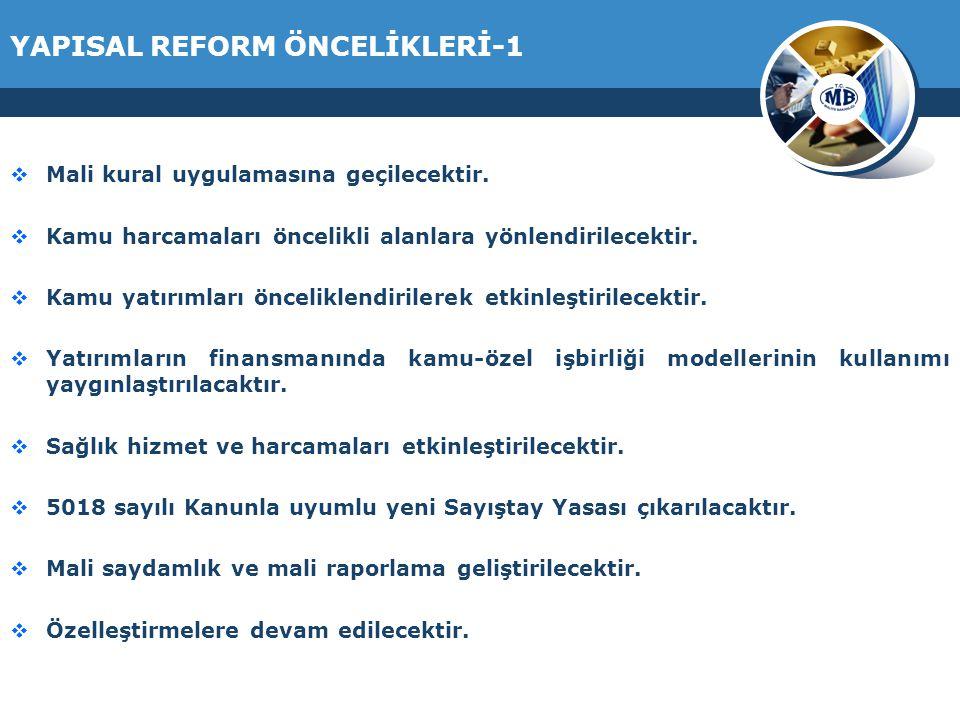 YAPISAL REFORM ÖNCELİKLERİ-1