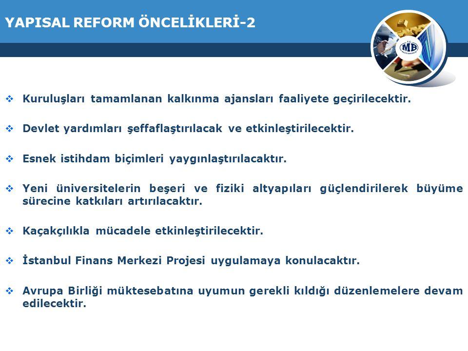 YAPISAL REFORM ÖNCELİKLERİ-2