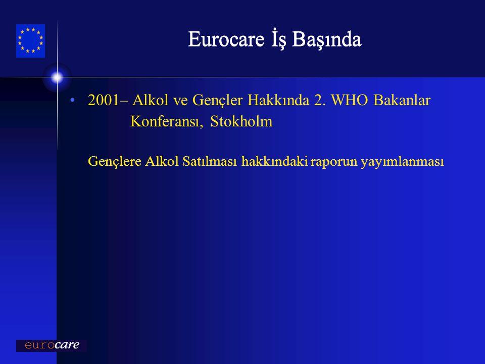 Eurocare İş Başında 2001– Alkol ve Gençler Hakkında 2. WHO Bakanlar