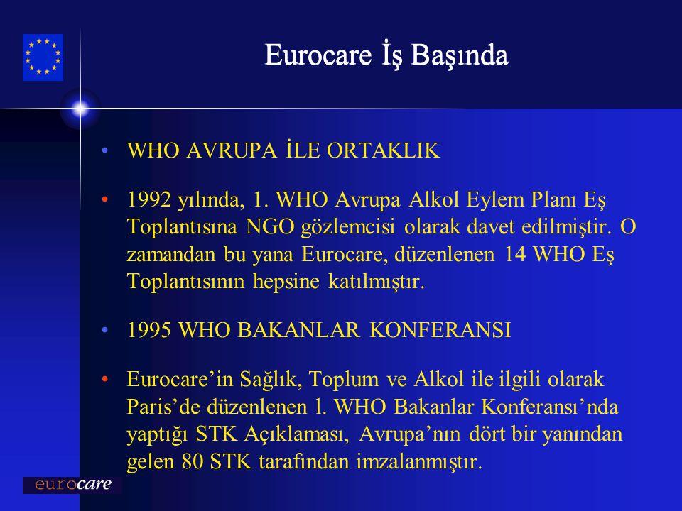 Eurocare İş Başında WHO AVRUPA İLE ORTAKLIK