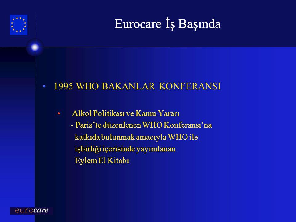 Eurocare İş Başında 1995 WHO BAKANLAR KONFERANSI