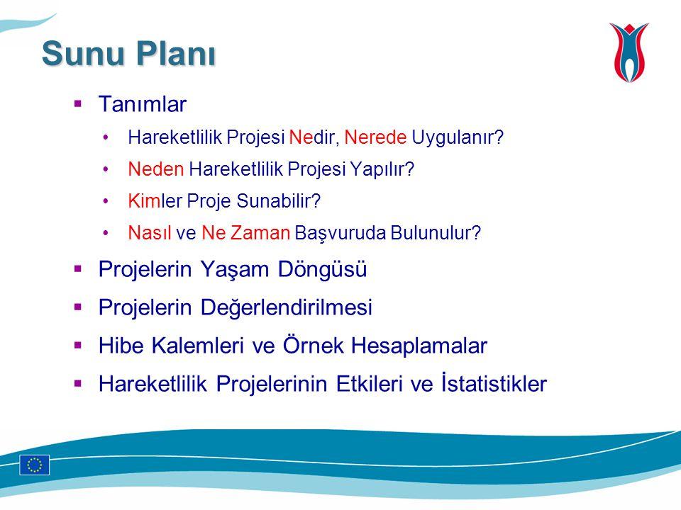 Sunu Planı Tanımlar Projelerin Yaşam Döngüsü